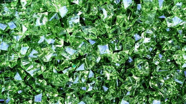 Diamonds, Green, Design, Color, Shape, Pattern
