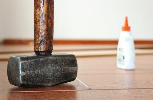 Hammer, Wood Glue, Laminate, Renovation, Embarrassed
