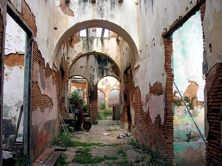 Abandoned, House, Ruins, Arch, No People, Brick, Old
