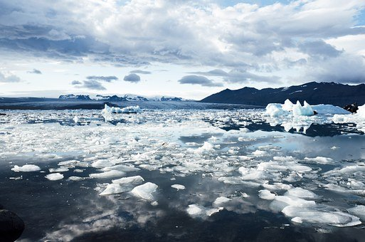 Iceland, Glacier, Iceberg, Floats, Cold, Ice, Arctic