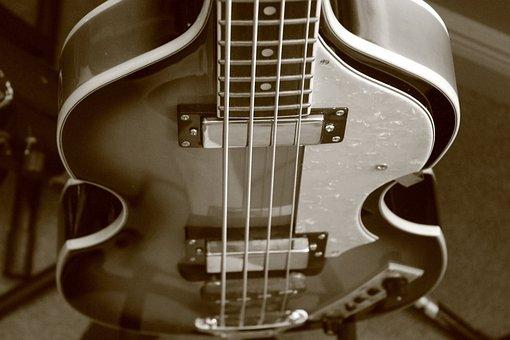 Bass Guitar, Guitar, Beatles, Bass, Instrument, Rock
