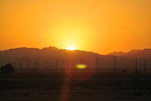 Sunrise, Landscape, Sunset, Sunlight, Season, Light