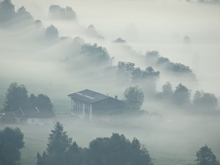 Fog, Mist, Sunrise, Nature, Clouds, Mood, Morning Hour