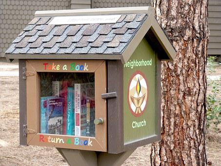 Books, Reading, Little Library, Outdoor Library