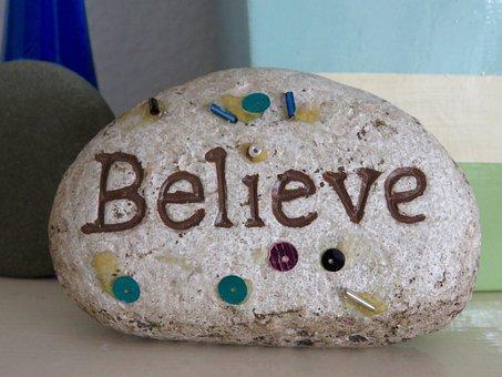 Rock, Art, Believe, Message, Fun, Garden, Stone