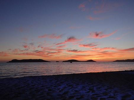 Sunset, Beach, Sea, San Carlos, Sea Of Cortés