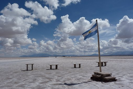 Salinas, Argentine, Flag, Salt Lake, Landscape, Scenery