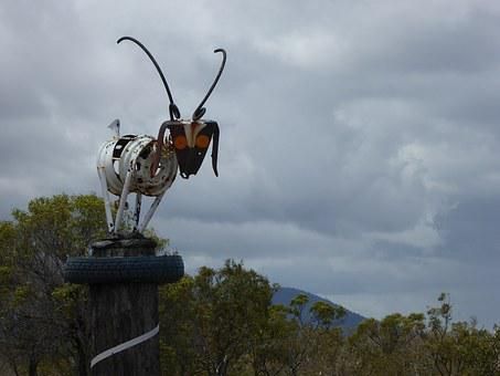 Goat, Sculpture, Recycle, Folk Art, Art, Animal, Farm