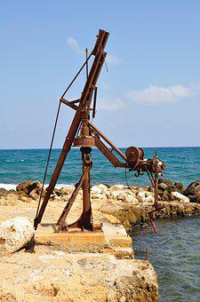 Art, Sea, Water, Crete, Rocks, Work Of Art
