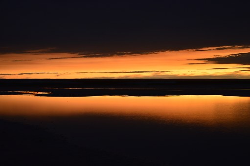 Sunset, Salinas, Sky, Orange, Sun