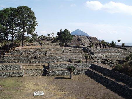 Mexico, Puebla, Cantona, Tourism, People, Places