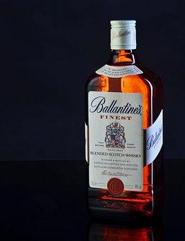 Ballantines, Glass, Alcohol, The Scottish, Background