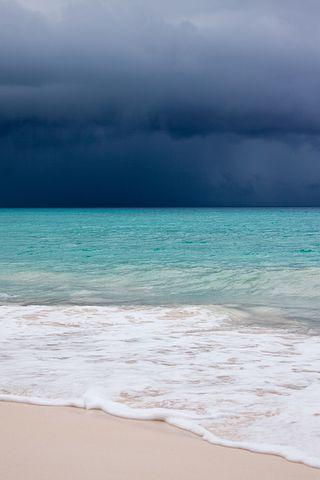 Beach, Blue, Caribbean, Clouds, Cloudscape, Danger