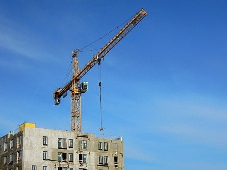 Crane, Building, Construction Site, High, Vantaa