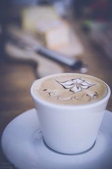 Breakfast, Coffee, Coffee Mug, Cup, Drink, Flower, Foam