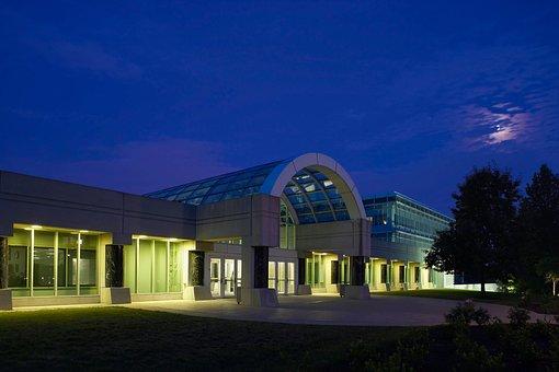 Cia Headquarter, Building, Night, Evening, Architecture