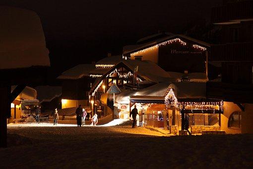 Christmas, Evening, Festive, Holiday, Home, House