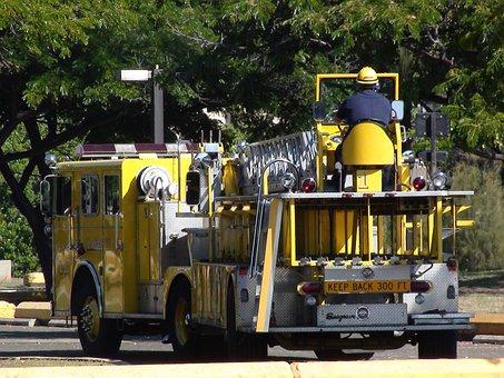 Fire, Truck, Vehicle, Transportation, Emergency, Engine