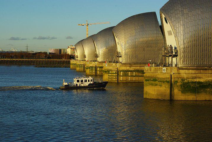 Thames, Barrier, London, Environment Agency, Flood