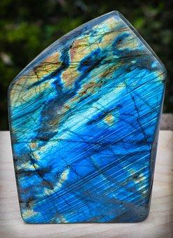 Labradorite, Mineral, Stone, Blue Shimmering, Gem