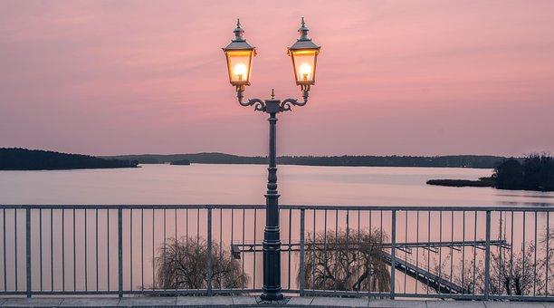 Lantern, Water, Sky, Gold, Lamp, Lake, Europe