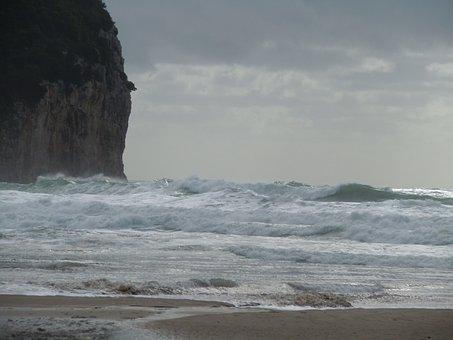 Serapo, November, Beach, Waves, Sandy, Summer, Holidays
