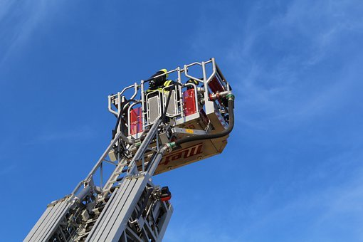 Turntable Ladder, Fire, Ladder, Fire Truck