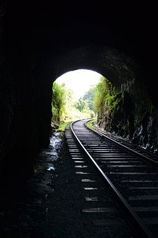 Railroad, Light, Light Comes Through, Sun Set, Rail