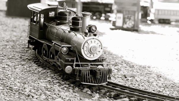 Train, Toy, Locomotive, Play, Fun, Set, Transportation