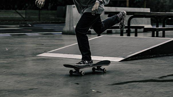 Legs, Man, Person, Skateboard, Skateboarding, Sport