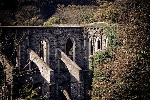 Ruin, Cathedral, Monk, Romantic, Architecture