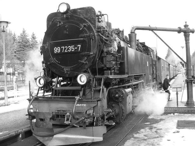 Steam Locomotive, Brocken Railway, Water Refueling