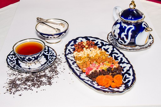 Tea, Herb, Sweets, Candied Fruits, Peanuts, Nuts, Macro