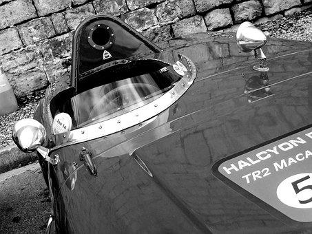 Racing Car, Vintage, Classic Car, Triumph Tr2, Triumph