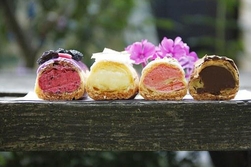 Summer, Fruit, Dessert, Berry, Eclairs, Coffee House