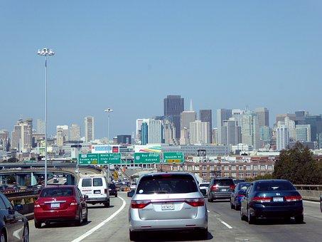 Big City, Traffic, San, Francisco, Highway, Auto