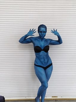 Blue, Bikini, Girl, Female, Woman, Sexy, Avatar