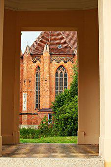 Bell Tower, Building, Tower, Brick, Teepavillion, Door