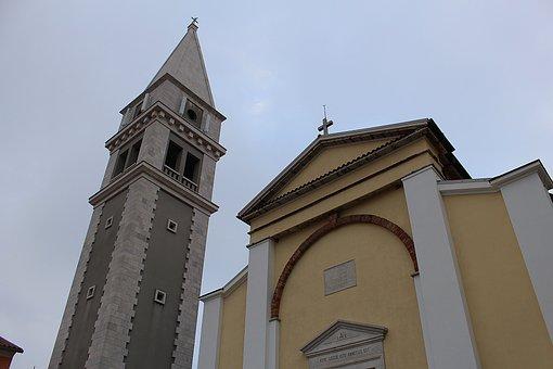 Church, Croatia, Vrsar, Building, Old Town