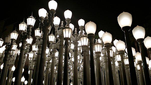 Los Angeles, Lacma, Lights, Travel, City, Landmark