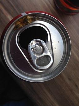 Coca, Box Of Coca, Cans Coca, Top View, Operculum