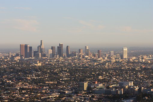 Downtown Los Angeles, Pic From Sky, Los Angeles