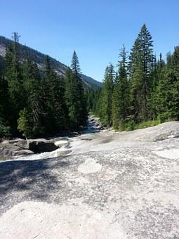 Nature, Mountains, Rock Water Slide, Natural, Forest