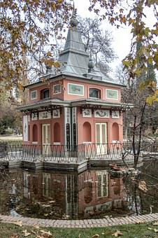 Palacete, Palace, Madrid, Garden, Architecture