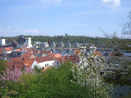 Flensburg, Duburg, Duborg, City, Germany