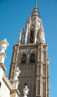 Spain, Segovia, Gothic, Bell Tower, Cathedral