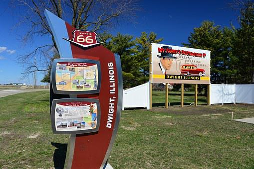 Route 66, Historic Highway, Highway, Dwight, Illinois