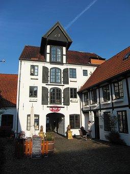 Brasserie, Flensburg, Hof, Warehouse, Old, Memory