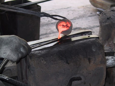 Metal, Molten, Blacksmith, Mold, Glowing, Hot