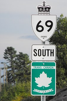 Road, Sign, Landmark, Ontario, Highway, Trans Canada